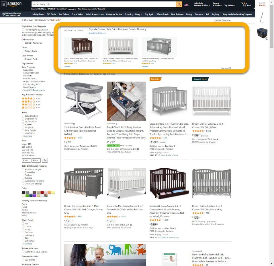 Sponsored Brands Product Collection - Desktop